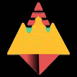 Triángulo corona plana