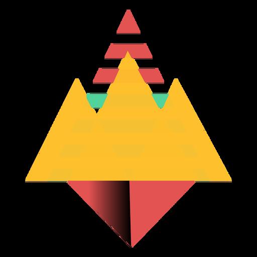 Triángulo corona plana Transparent PNG