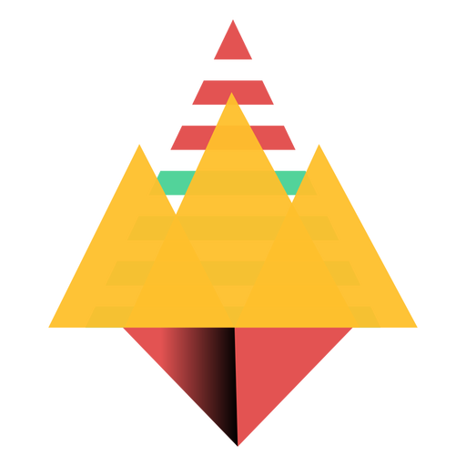 Triangle crown flat Transparent PNG