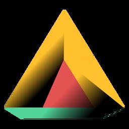 Ilustración 3d de la pirámide del triángulo