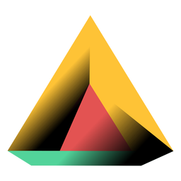 Triangle pyramid 3d illustration