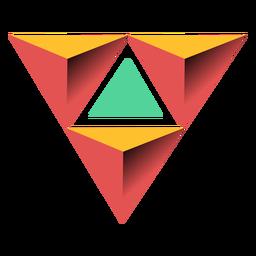 Ilustración del ápice 3d de la pirámide del triángulo