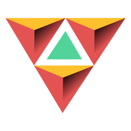 Triangle pyramid apex 3d illustration