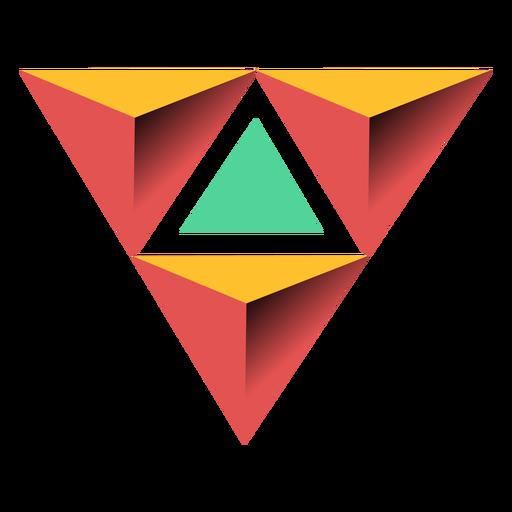 Ilustración del ápice 3d de la pirámide del triángulo Transparent PNG