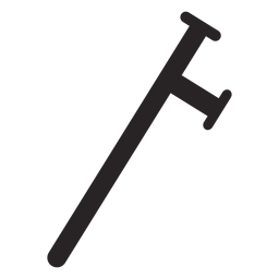 Truncheon club baton silhouette