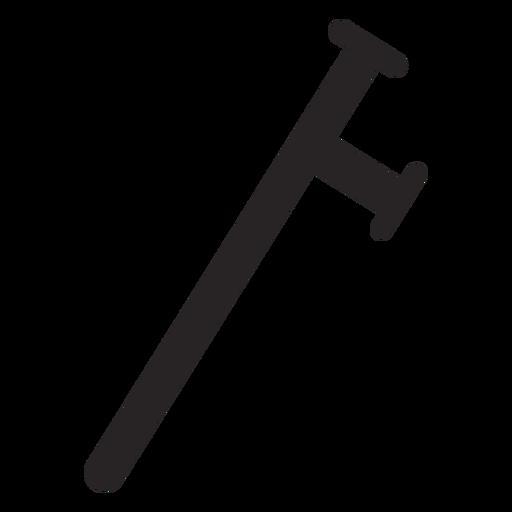 Truncheon club baton silueta Transparent PNG