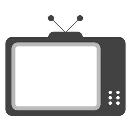 Tv set antenna screen silhouette Transparent PNG