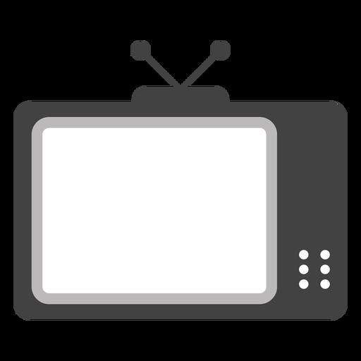 Tv set antenna screen silhouette