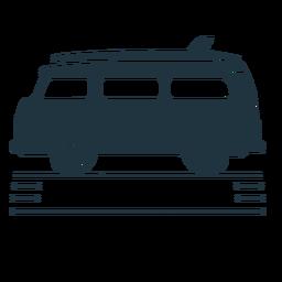 Ilustração de prancha de van