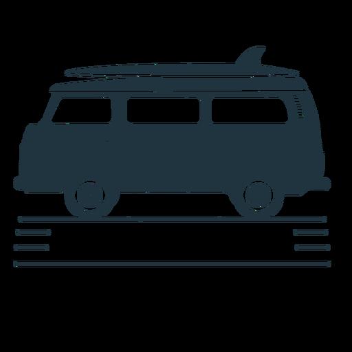Ilustración de tabla de surf van