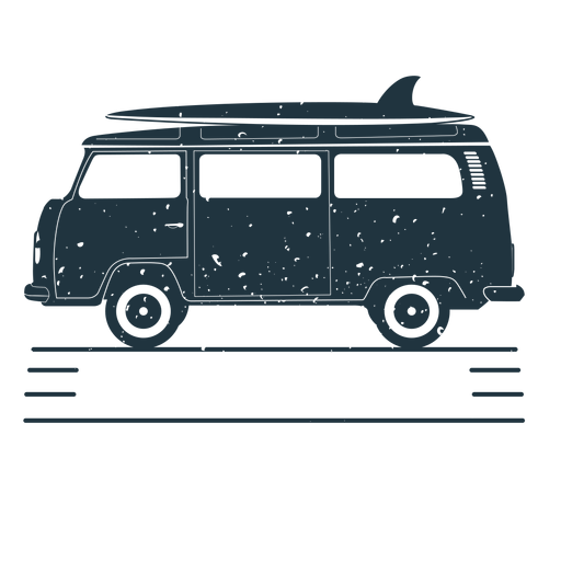 Van surfboard illustration
