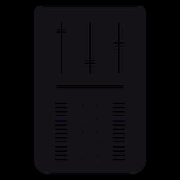 Silhueta de controle de volume