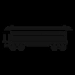 Silhueta de vagão