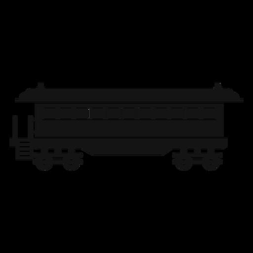 Silueta de vagón Transparent PNG