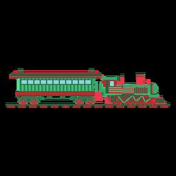 Lastwagen-Dampflokomotiven-Pilotillustration