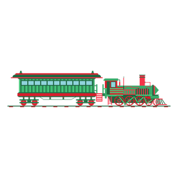 Wagon steam locomotive pilot illustration