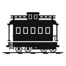 Silueta de estación de tren de vagones