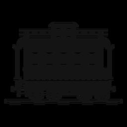 Silueta de la estación de tren de vagón