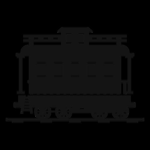 Silueta de estación de tren de vagones Transparent PNG