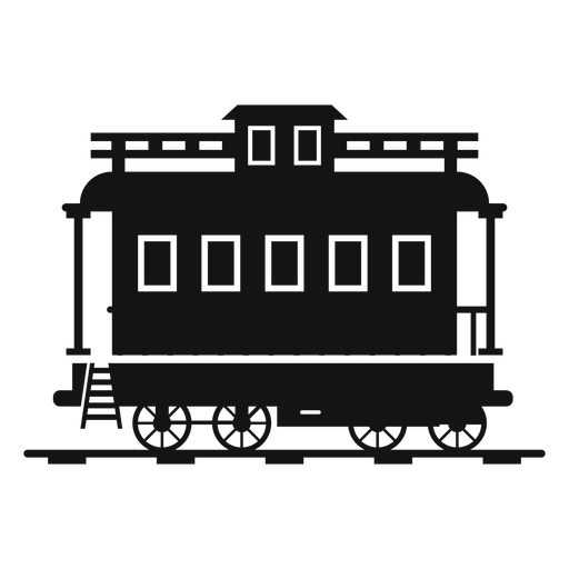 Wagon train station silhouette Transparent PNG
