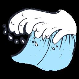 Ilustração de gota de onda de água