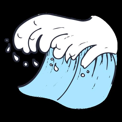 Ilustração de gota de onda de água Transparent PNG
