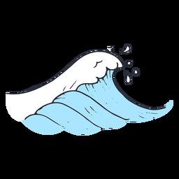 Ilustración de mar de onda de agua