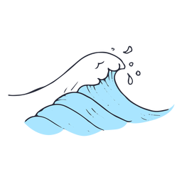 Water wave sea illustration
