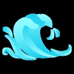 Wave drop flat