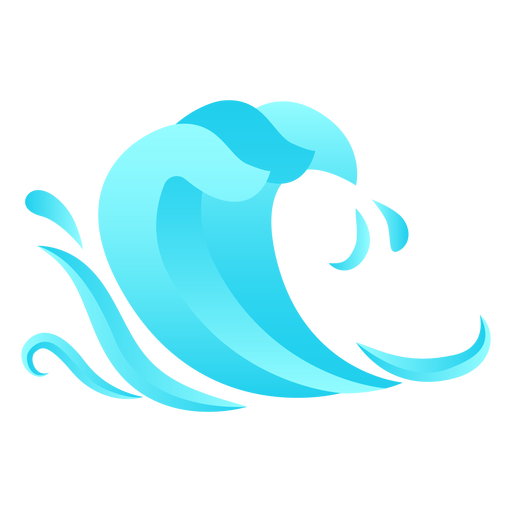 Wave drop flat Transparent PNG