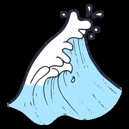 Ilustração de gota de onda