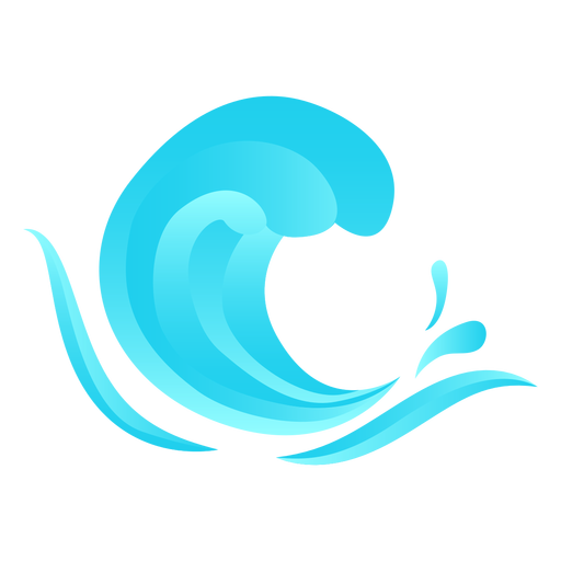 Wave flat Transparent PNG