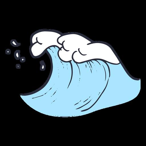 Ilustración de gota de océano de onda