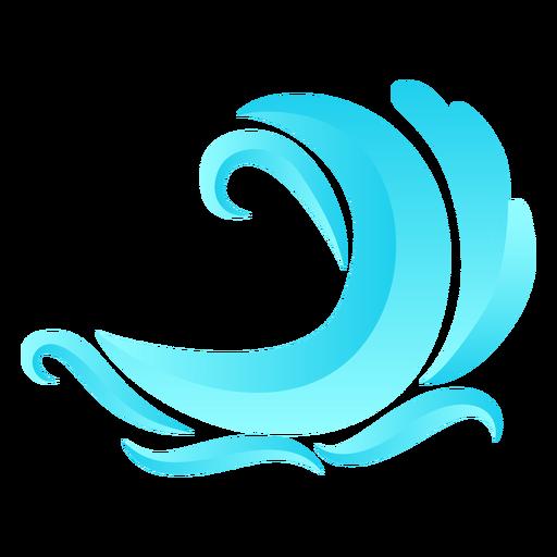 Ola oceánica mar agua plana Transparent PNG