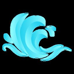 Ola plana del mar