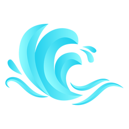 Wave sea flat