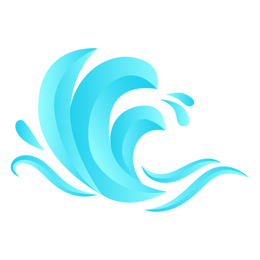 Wave sea flat Transparent PNG