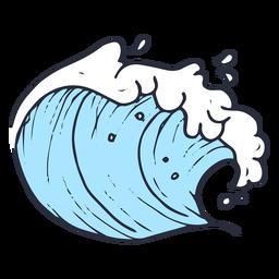 Ola mar ilustración