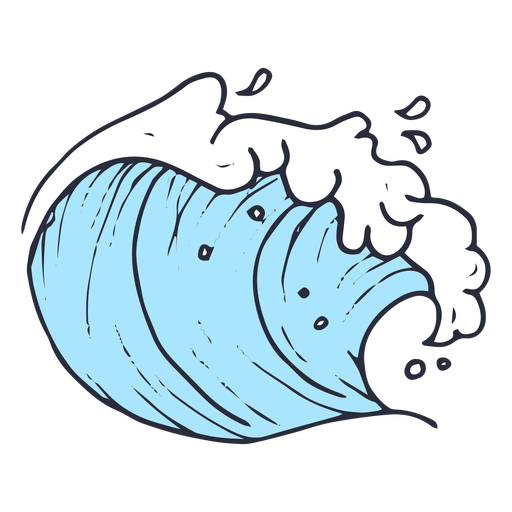 Wave sea illustration Transparent PNG