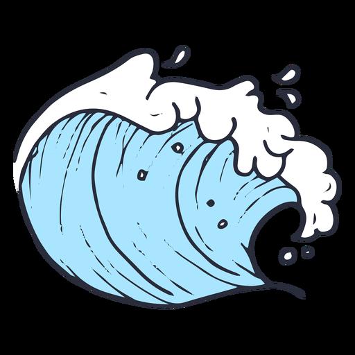Wellenmeerillustration Transparent PNG