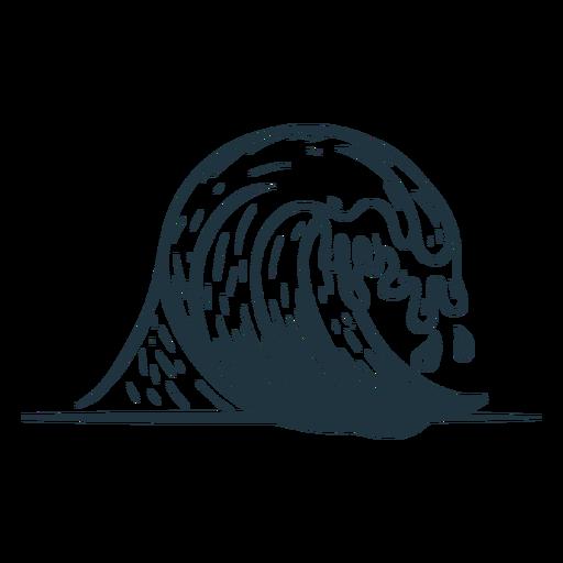 Bosquejo de mar de onda Transparent PNG