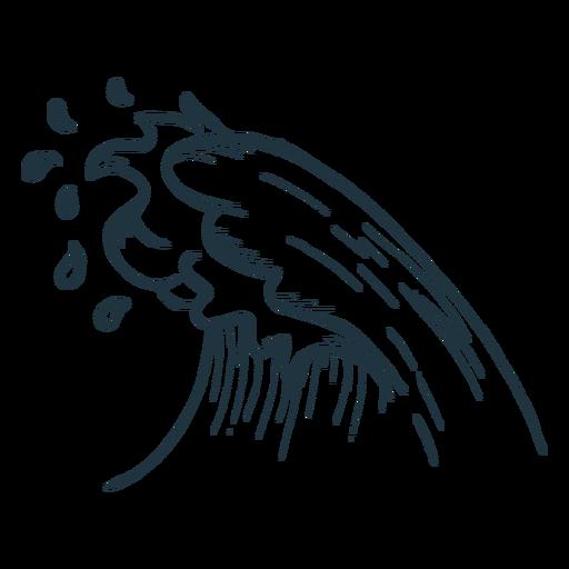 Esboço onda Transparent PNG