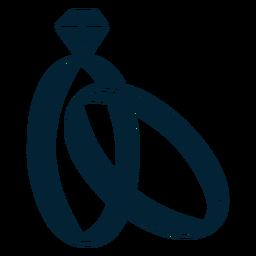 Silhueta de anel de casamento