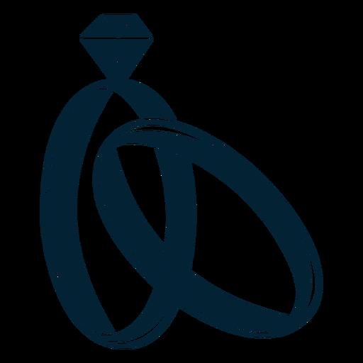 Silhueta de anel de casamento Transparent PNG