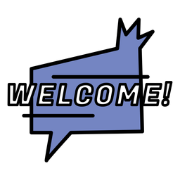 Welcome sticker