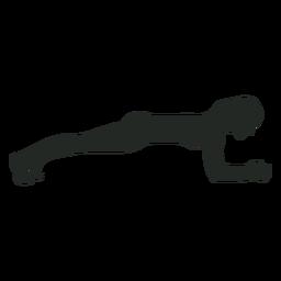 Mujer ejercicio silueta