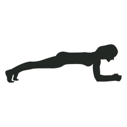 Silhueta de exercício de mulher