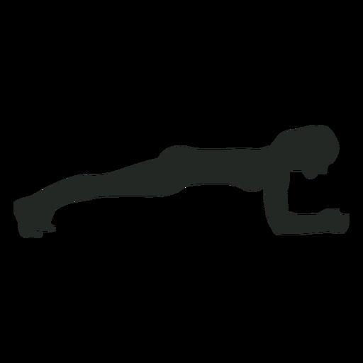 Silhueta de exercício de mulher Transparent PNG