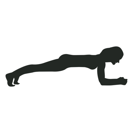 Woman exercise silhouette