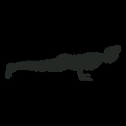 Silueta de ejercicio de pose de mujer Transparent PNG